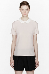 Pink Alex Blouse by Marc by Marc Jacobs at SSENSE