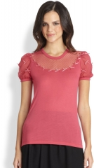 Pink Bow Applique Top at Saks Fifth Avenue