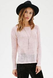 Pink Boxy Loose Sweater at Forever 21
