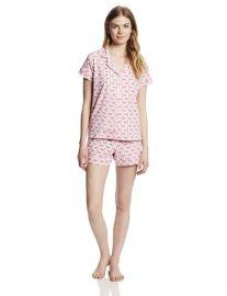 Pink Flamingo Print Pajamas by Bedhead at Amazon