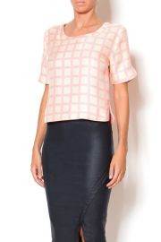 Pink Gingham Top by JOA at Shoptiques