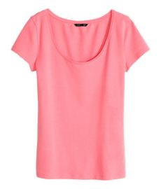 Pink Jersey Top at H&M