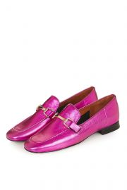 Pink Karter Loafers at Topshop