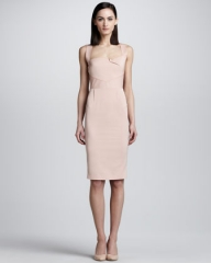 Pink Piora Dress by Roland Mouret at Neiman Marcus