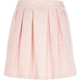 Pink Pleated Skirt at River Island