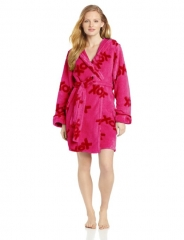 Pink Plush XOX Robe by Betsey Johnson at Amazon