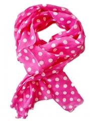 Pink Polka Dot Scarf at Amazon