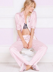 Pink Striped Afterhours Pajamas at Victoria's Secret