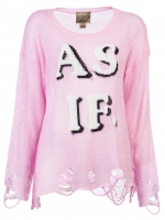 Pink Wildfox AS IF sweater at Farfetch