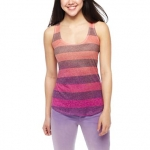 Pink and purple striped tank at JC Penney