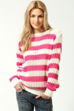 WornOnTV: Rose's pink and white striped sweater on Hart of Dixie ...