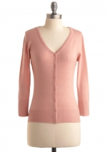 Pink cardigan at Modcloth