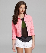 Pink denim jacket at Dillards at Dillards