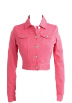 Pink denim jacket from Delias at Delias