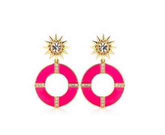 Pink earrings at Juicy Couture