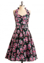 Pink floral dress from Modcloth at Modcloth