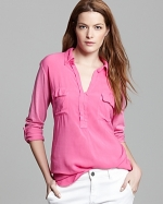 Pink henley shirt by Splendid at Bloomingdales