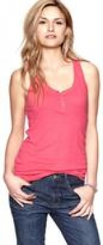 Pink henley tank from Gap at Gap