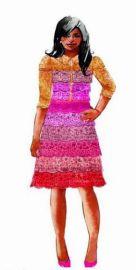 Pink lace dress at Salvador Perez