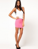 Pink mini skirt from ASOS at Asos