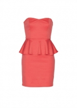 Pink peplum dress at Delias at Delias