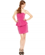 Pink peplum dress by Guess at Macys