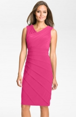 Pink pleated dress at Nordstrom
