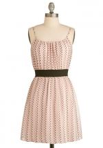 Pink polka dot dress at Modcloth at Modcloth
