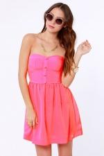 Pink strapless dress like Arias at Lulus