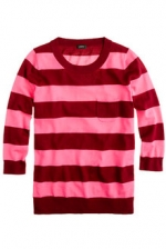 Pink striped Tippi sweater from J. Crew at J. Crew