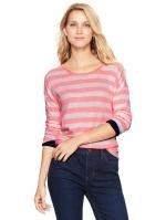 Pink striped shirt at Gap