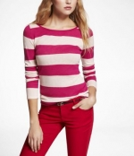 Pink striped sweater from Express at Express