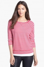 Pink striped sweatshirt by Caslon at Nordstrom