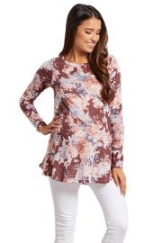PinkBlush Maternity Floral Print Knit Top at Amazon