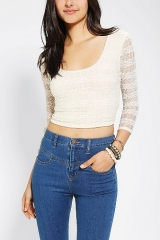 Pins And Needles Bodycon Cropped Top at Urban Outfitters