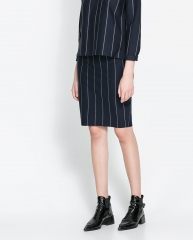 Pinstripe skirt at Zara