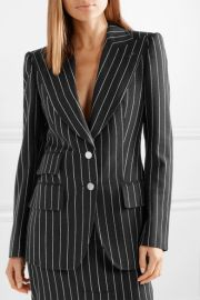 Pinstriped wool-twill blazer at Net A Porter