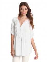 Pintucked Twiggy Tunic by Bcbgmaxazria at Amazon