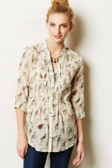 Pintucked blouse at Anthropologie