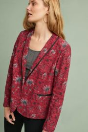Piped Floral Blazer by Anthropologie at Anthropologie