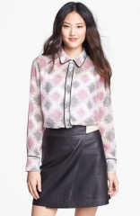 Piped blouse by Pleione at Nordstrom