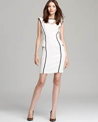 Piped peplum dress by Milly at Bloomingdales
