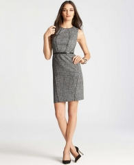 Piped tweed dress at Ann Taylor