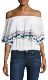 Piper - Byron Off-The-Shoulder Top White at Saks Fifth Avenue