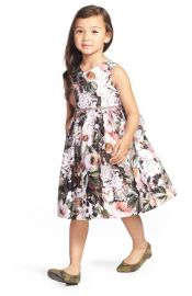 Pippa and Julie Grey Floral Shantung Dress at Nordstrom