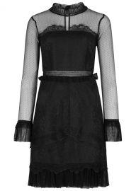 Pitch Black Lace Mini Dress  Three Floor at Harvey Nichols