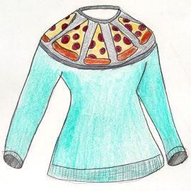 Pizza Sweater Pattern at Lisa Lucia Knits