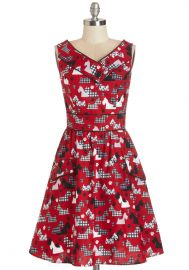 Places to Go People to See Dress in Scottie at ModCloth