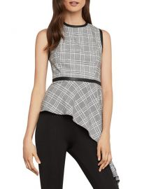 Plaid Asymmetric top at Bloomingdales