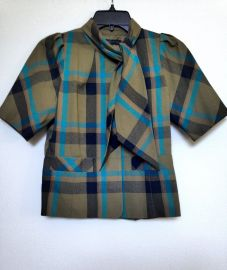 Plaid Blouse With Scarf Neck by Marc by Marc Jacobs at Ebay